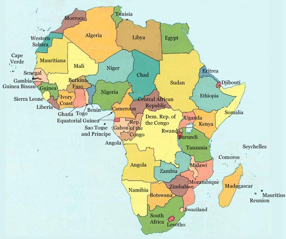Current Map Of Africa.The Dream Continues