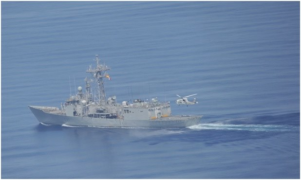 Japanese destroyers train with Spanish frigate in the Gulf