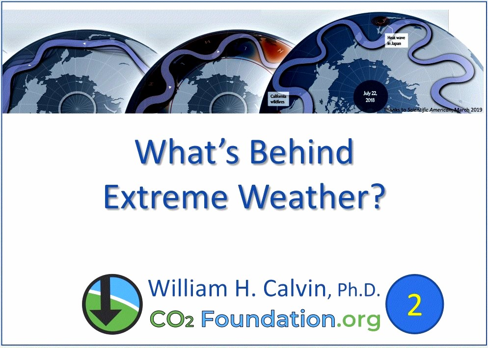 What's behind extreme weather?