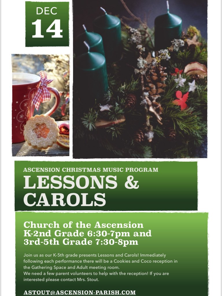 School Christmas Program-Lessons & Carols @ Church