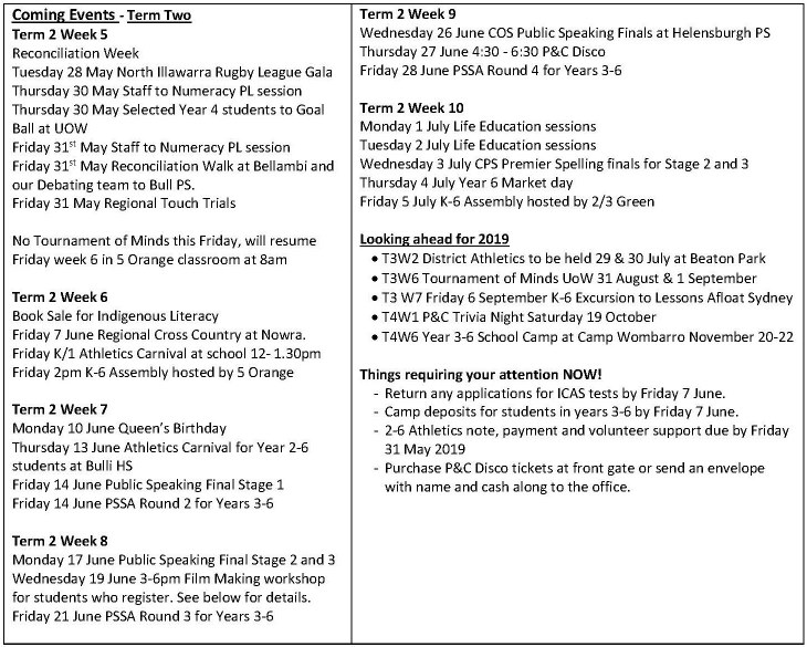 Coledale Seaside Times Term 2 Week 5