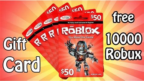 Free Roblox Robux Gift Cards Without Survey or Offers