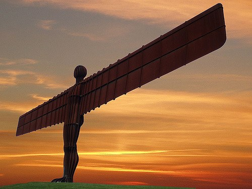 Angel of the North, sunset. | I simply photoshopped a new ...