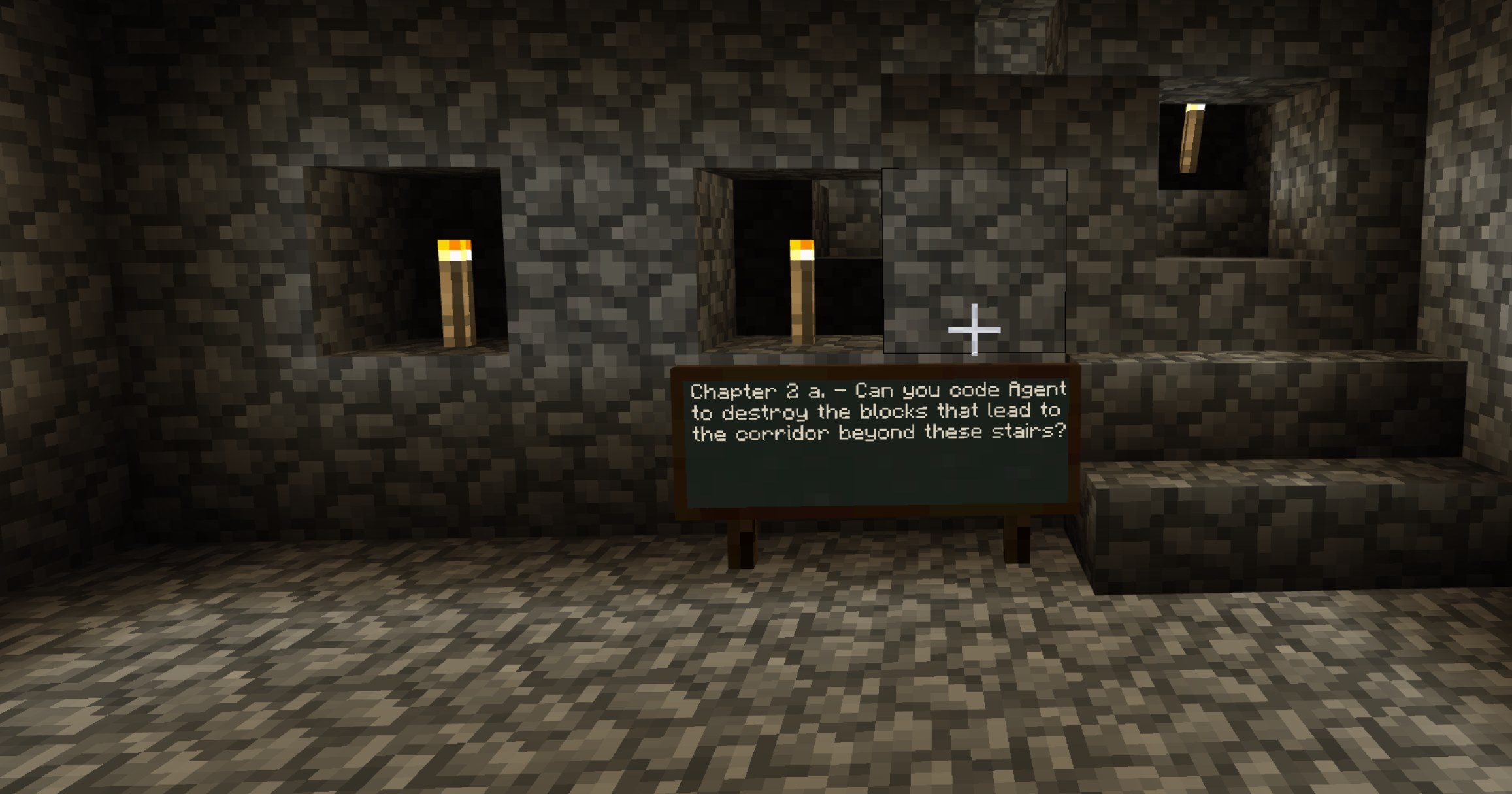 Minecraft and Code Builder: Escape the Cave