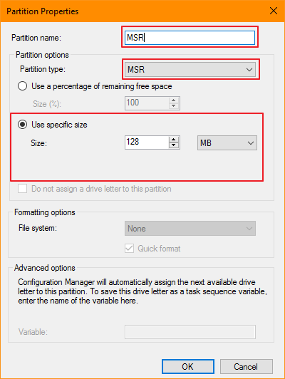 Windows 10 Task Sequence (Accessibility view)