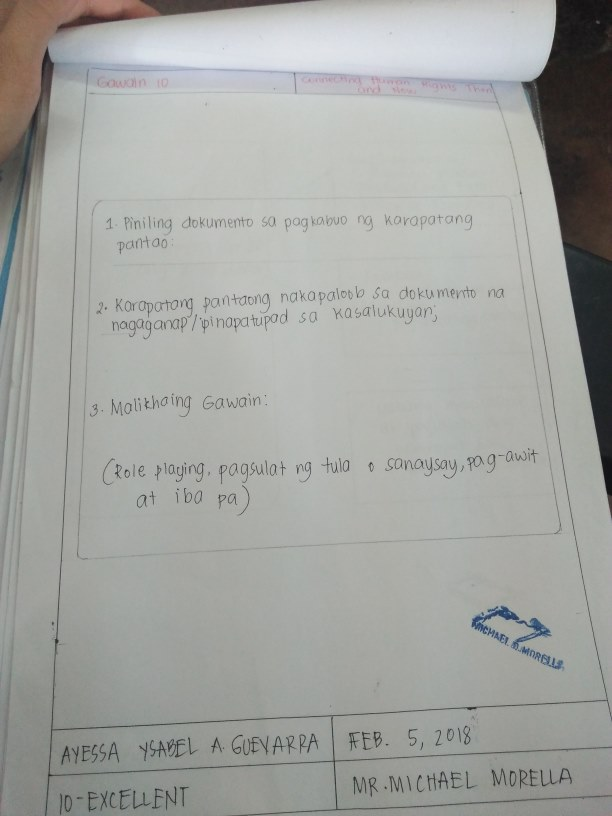 Portfolio in Araling Panlipunan (Accessibility view)