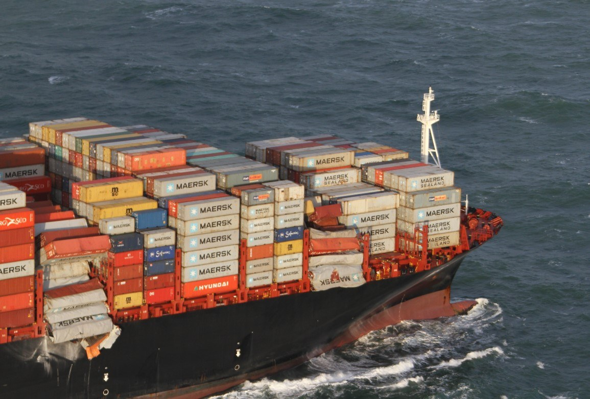 Photos: Over 200 Containers Fall from MSC Zoe amid Heavy Weather