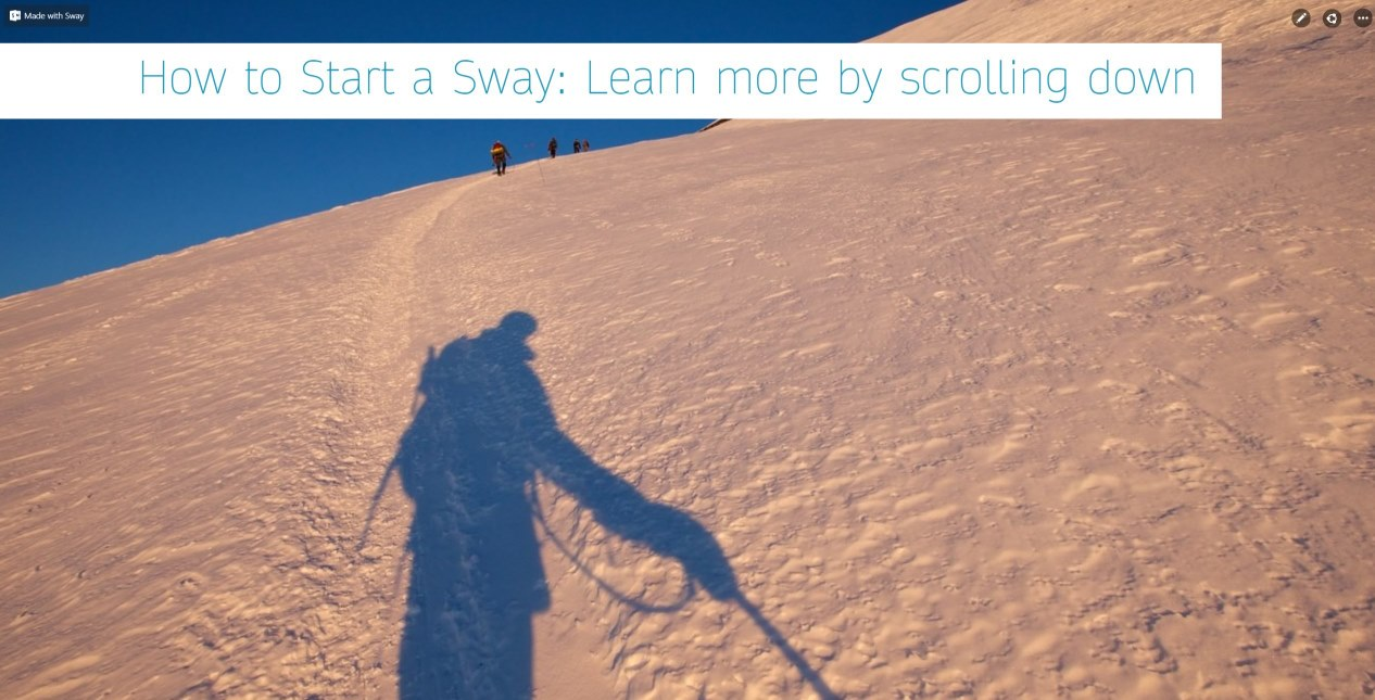 How to Start a Sway: Learn more by scrolling down