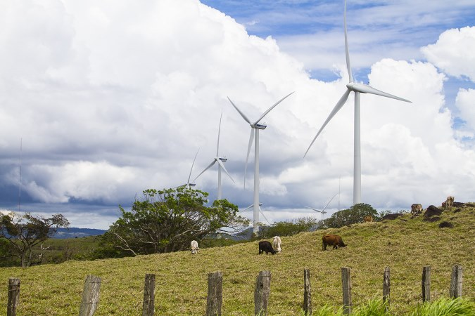 Wind turbines in Costa Rica