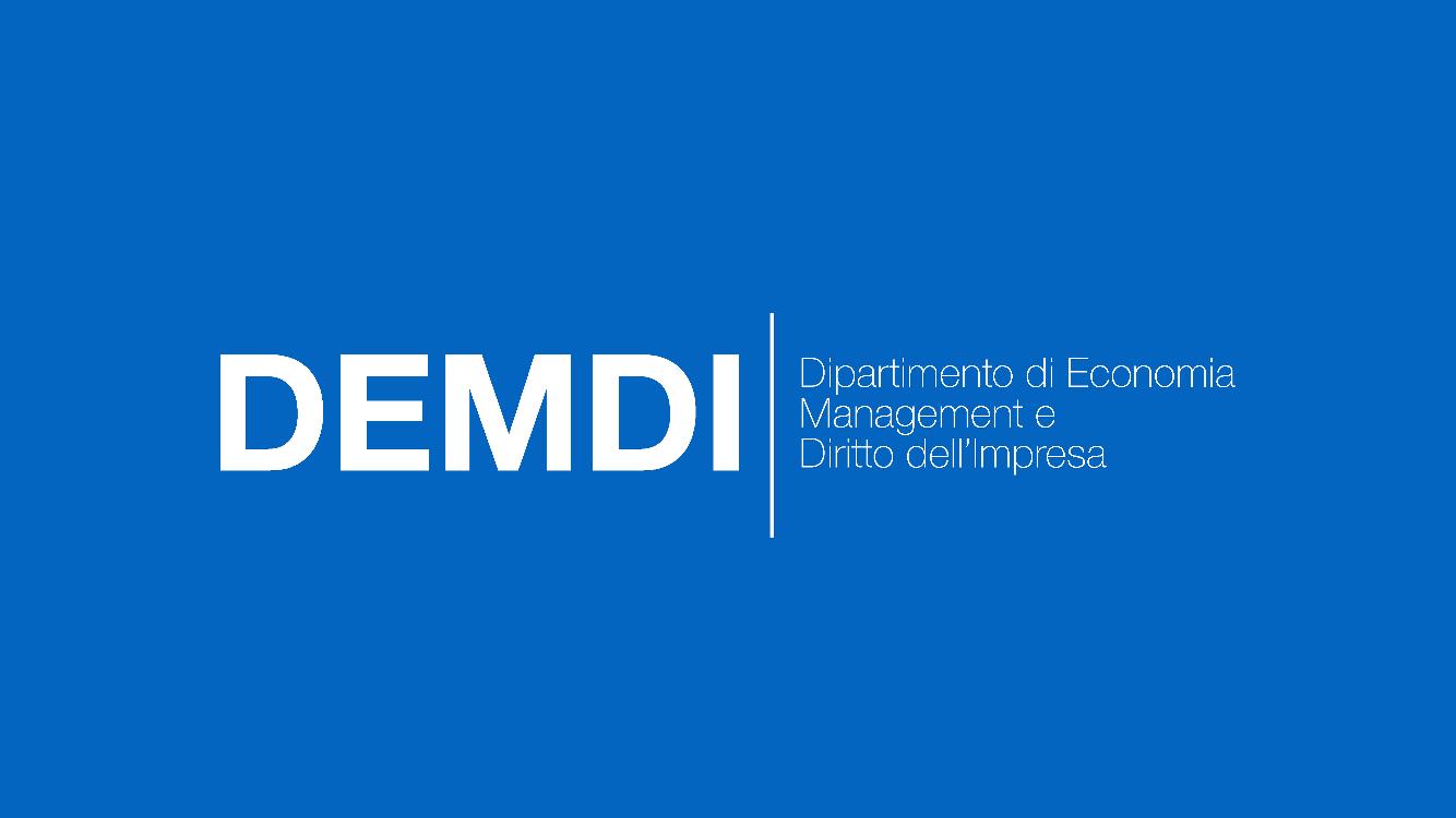 Economia, Management e Diritto dell'Impresa — Economia, Management