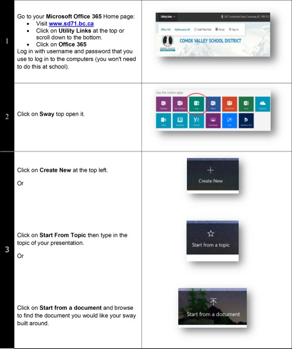 Office 365 Resources - Comox Valley School District